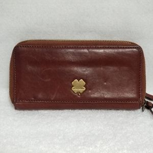 Lucky Brand Brown Leather Continental Wallet